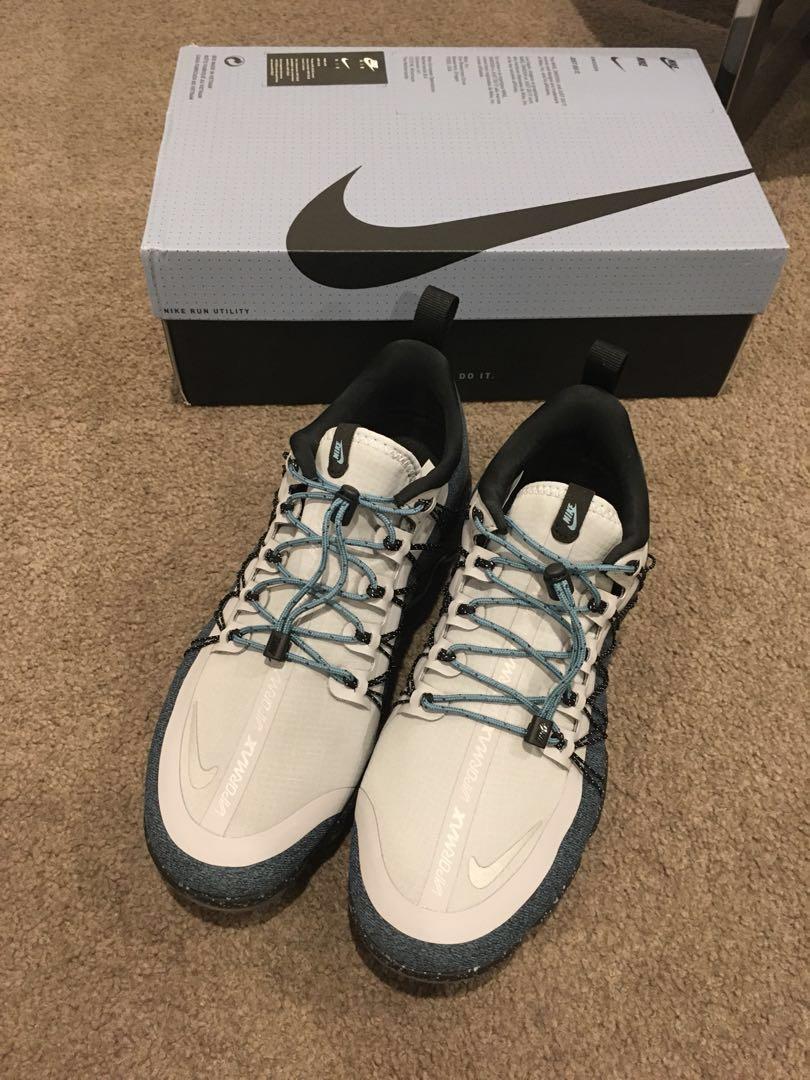 49f8afa96f0ff Women Nike Air Vapormax Run Utility Wolf Grey Reflect Silver Celestial Teal