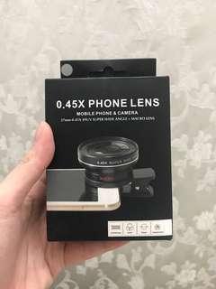0.45x wide angle lens with macro