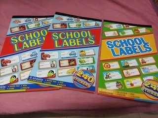 School label name tag , 6 sheets per book, have 240pcs stickers
