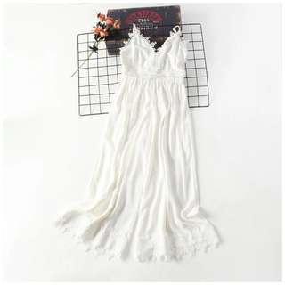 White Lace Long Jumpsuit / Romper