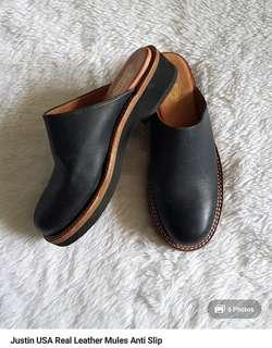 Justin USA leather mules