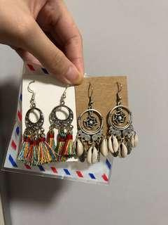 🚚 Handcrafted seashells tassels earrings
