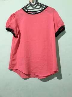 BLOUSE PINK ACCENT - size 10