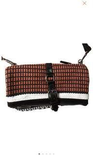 🚚 Maje Leather Clutch Purse Slingbag