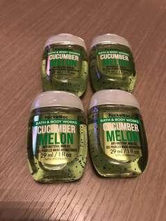 Bath and Body Works Hand Sanitizers 免洗消毒洗手啫喱 - cucumber melon