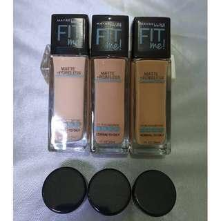 Maybelline Fit Me matte Foundation share in jar