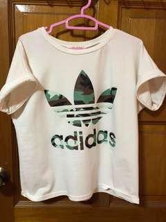 adidas camo print white tshirt
