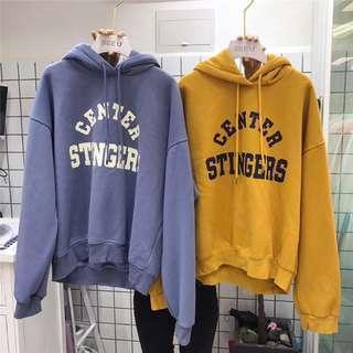 🚚 #182 (4 COLOURS) mustard / blue / cream beige / pink hoodie vintage ulzzang korean