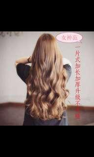(NO INSTOCKS!) Preorder Korean Thickened version wavy long clip on hair extension* waiting time.15 days after payment is made* chat to buy to order