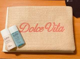 迪奧 我的羅馬假期化妝包(內含卸妝水、乳)