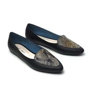 Sepatu flat : Sahira flatshoes : size 39 : black