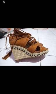 h&m wedges/heels suede 38