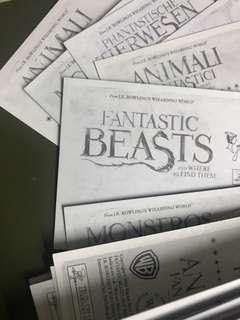 怪獸與牠們的產地 貼紙 Fantastic Beasts stickers,Harry Potter 哈利波特系列,交換 買賣 貼紙,收其他集數貼紙 #sellmar19