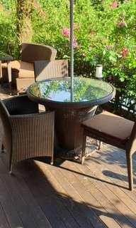 Brown Synthetic Rattan Chairs