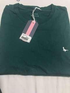 Jack Wills Basic Tee With Logo In Emerald