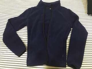 Deal! Uniqlo Women Dark Blue Fleece Warm Jacket