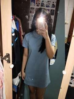 Runway bandits light blue tshirt dress