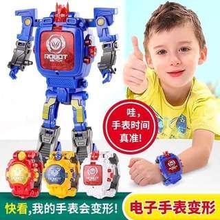 Ready stock-Robot Toys Transformer Digital Watch for Kids