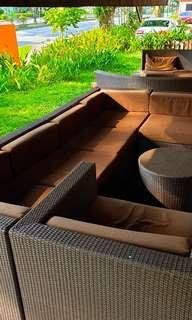 🚚 Various Size Outdoor Synthetic Brown Rattan Sofas Sets