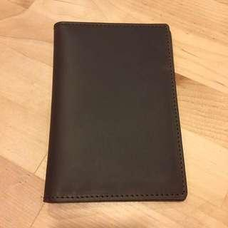 (last piece!) Leather Passport Holder - Dark Brown