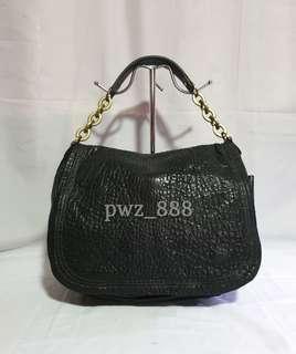 LANVIN Grain Leather Hobo Bag