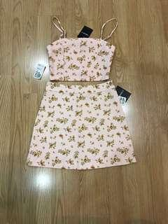 F21 PINK FLORAL CO ORDS
