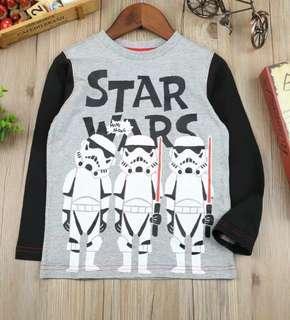 全新3-4歲Star War 長袖上衣