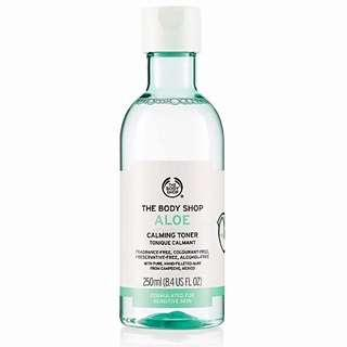 🚚 Brand New The Body Shop Aloe Calming Toner (TBS Bodyshop Aloe Vera Sensitive Blemish Acne Pimples Pimple Red Skin Solution Treatment)