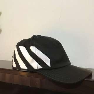 🚚 Off-white 五分割帽 棒球帽 老帽 黑色 正品!