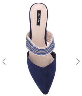(Brand New🎉) 今期大熱This summer must hv item🔥 寶藍色尖頭平底鞋slipper 拖鞋