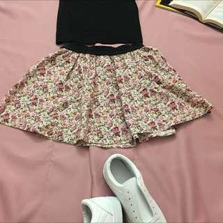 Japanese Free Size Flora Short Dress