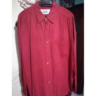 RED LONG SLEEVE SHIRT - EAST INDIA COMPANY - XL