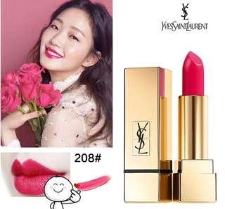 YSL Rouge Pur Couture Mat 啞光紅唇方管唇膏#208玫瑰紅(熱賣色) 🥳