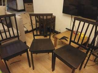 Antique Wooden Chairs (three chairs)