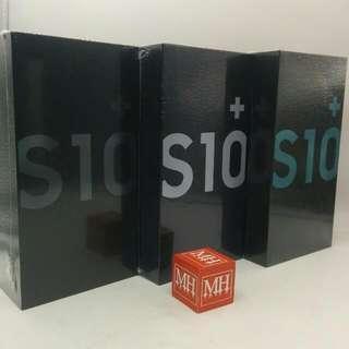 New Sealed Samsung S10+ Green Black White  MHMAR