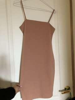 *NEW* Peach Strappy Bodycon Dress Size Medium