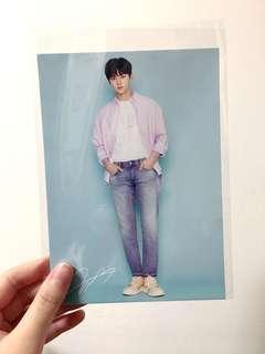 Wanna one nuest 黃旼炫 minhyun popup store postcard 小卡