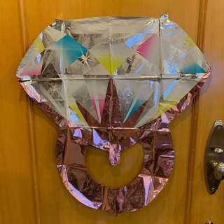 鑽石形求婚氣球(粉紅色)