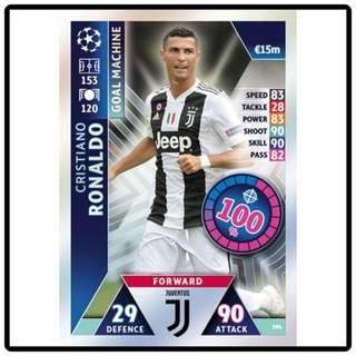 🚚 Topps Match Attax Champions League 2018/2019 Cristiano Ronaldo Goal Machine