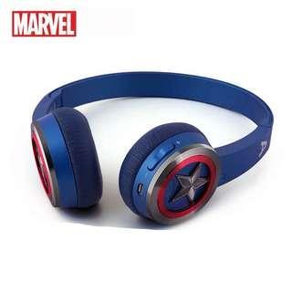 復仇者聯盟美國隊長鋼鐵俠無線藍牙耳機頭戴式運動跑步重低音立體聲
