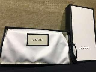 Gucci壓紋長夾(寶藍)