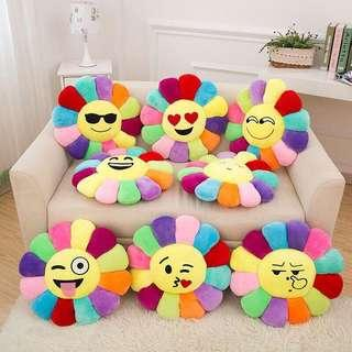 Flowers emoticon pillow 250nt Buy 2 for 400nt