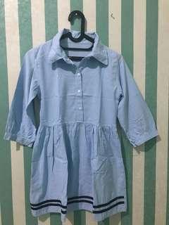 dress blouse biru
