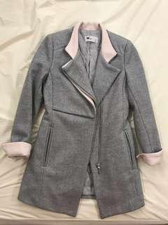 灰色西裝褸 Korea Grey Pink Long Coat