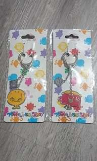 🚚 Cheapest pair of Mr Men and Little Miss keychains