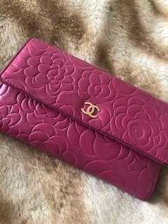 Chanel Camellia Trifold Wallet