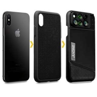 [BNIB] JLNDNE Shock Proof Casing With 6-In-1 Lens (iPhone X)