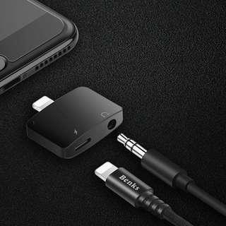 🚚 [BNIB SEALED] Benks Lighting To Audio + Lightning Adapter