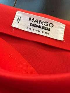 MANGO RED SKIRT PURCHASED IN NY