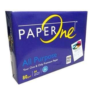 Paperone A4 All Purpose Paper (80gsm X 500'S) Ready Stock